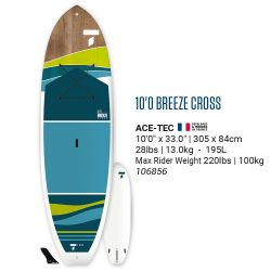 "BIC 10'0"" CROSS FIT stand up paddle board (SUP)"